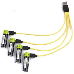 ZNTER usb кабель для зарядки аккумуляторов